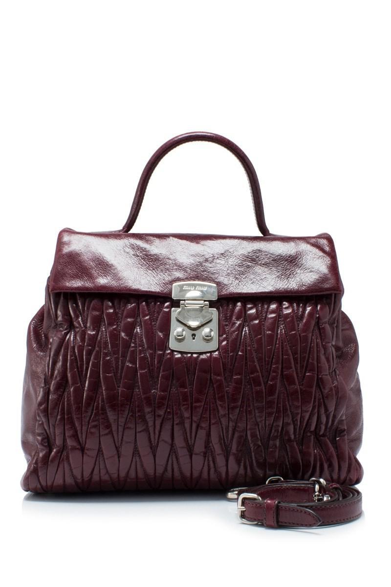 Miu Miu Pre-owned - Matelassé patent leather bag tWCfjW