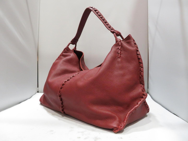 cd40356369 Lyst - Bottega Veneta Authentic Shoulder Bag Leather Wine Red Used ...