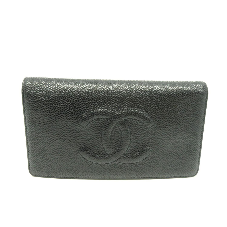 2846072a2e80 Chanel Cc Fold Wallet Purse Caviar Leather Black 2779 in Black - Lyst