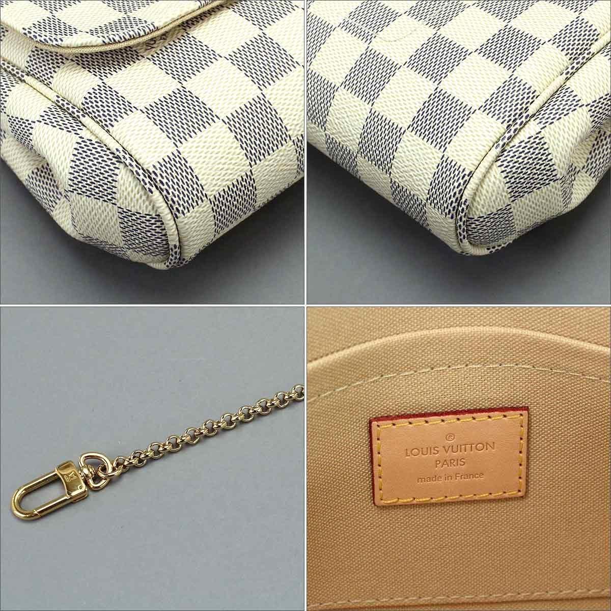 Lyst - Louis Vuitton Damier Azur Favorite Mm 2way Shoulder Bag ... 17b44044ca811