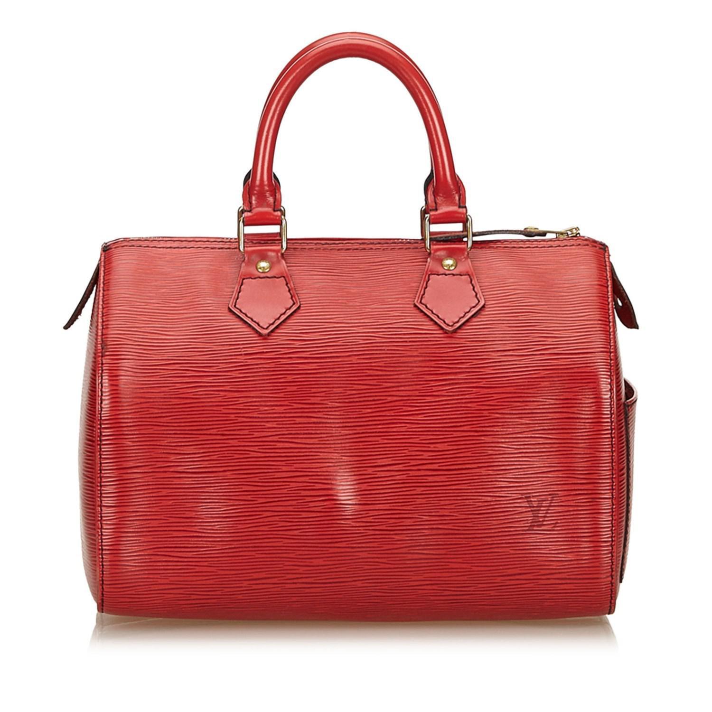 7933cf8c0729 Lyst - Louis Vuitton Epi Speedy 25 in Red