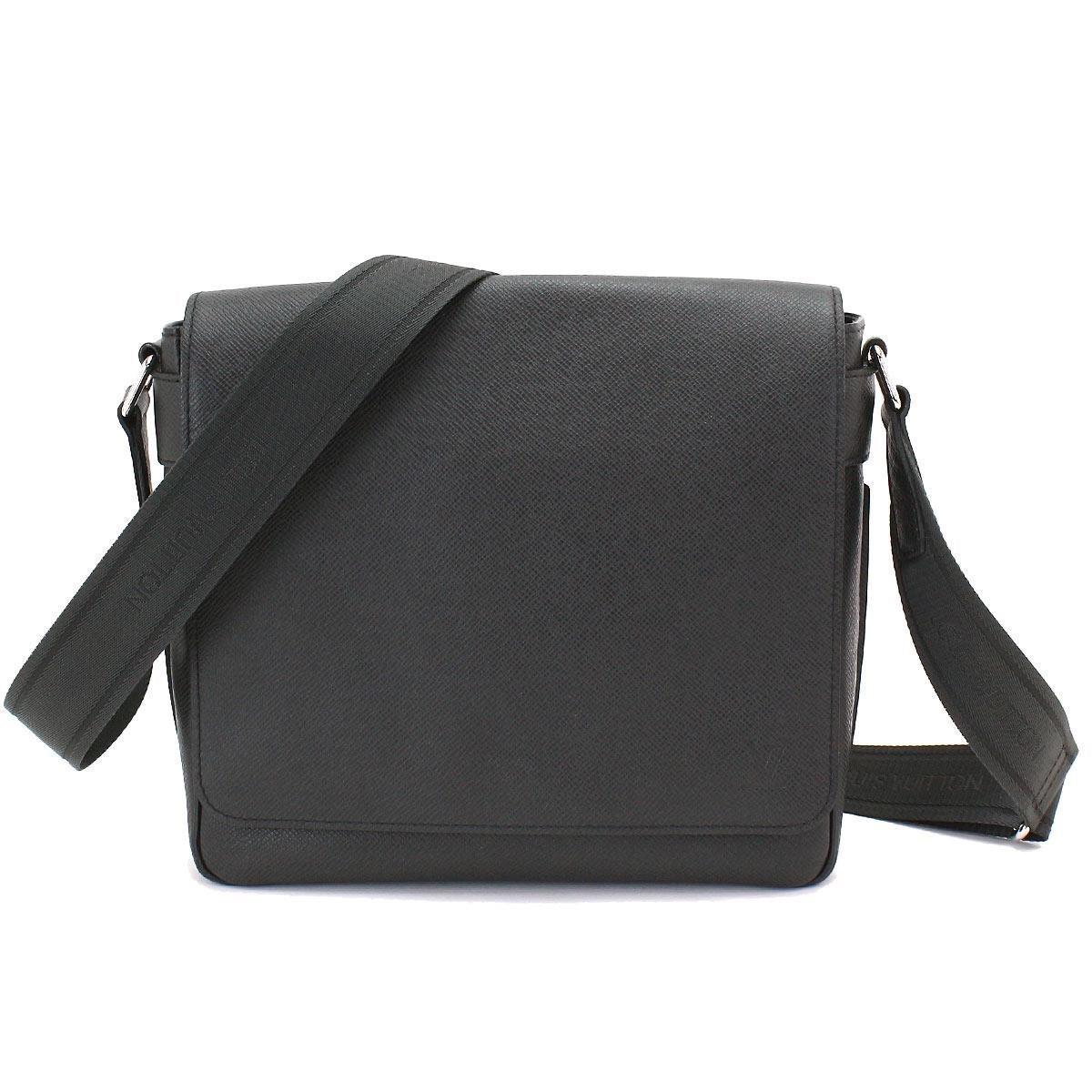 261b00ee7ea Louis Vuitton Black Taiga Leather Roman Pm Shoulder Bag Ardoise M32852  90044851..