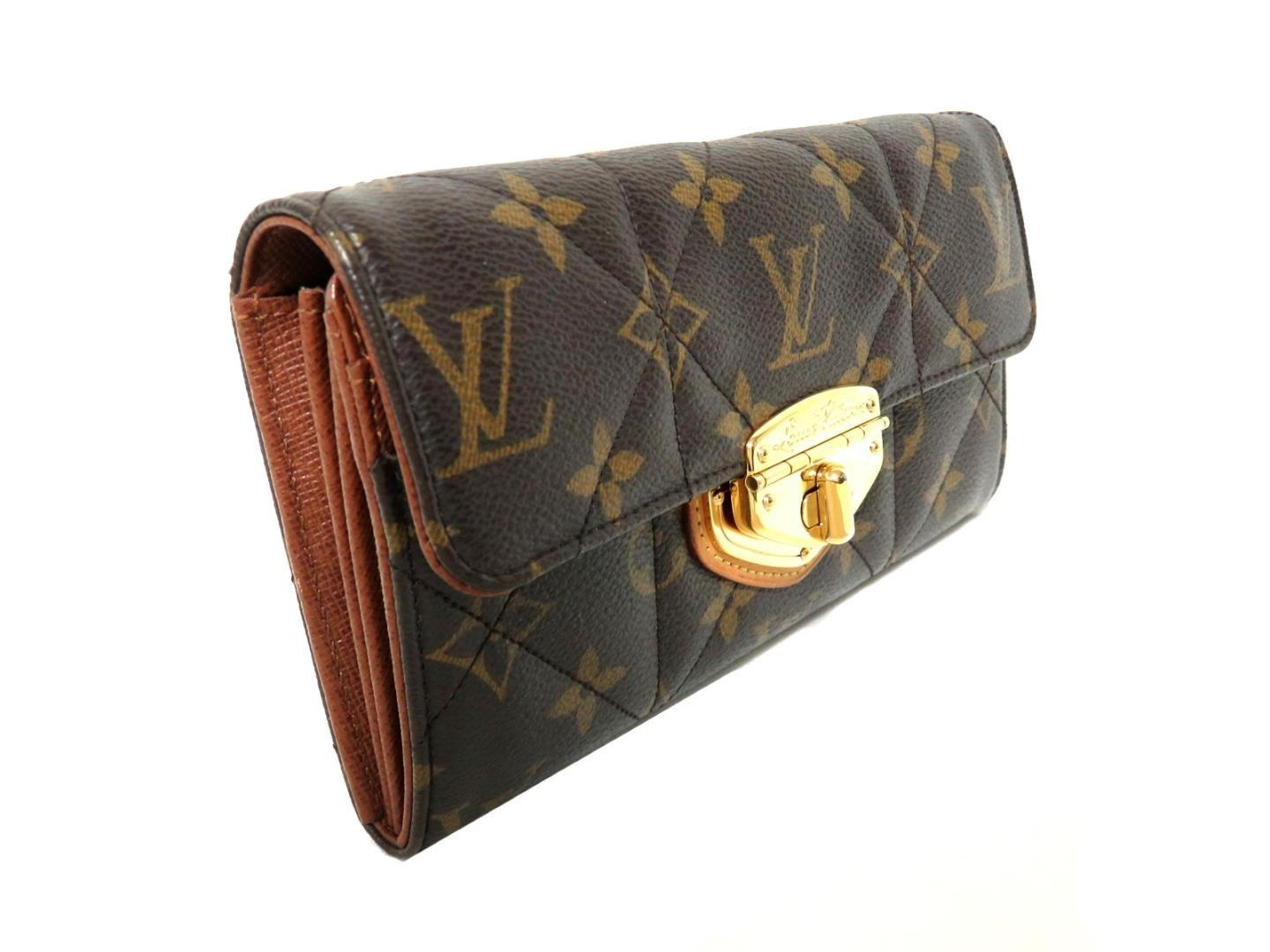 best website 3e0ed 9f3c1 Women's Brown Portefeiulle Sarah Long Wallet Monogram Etoile M66556