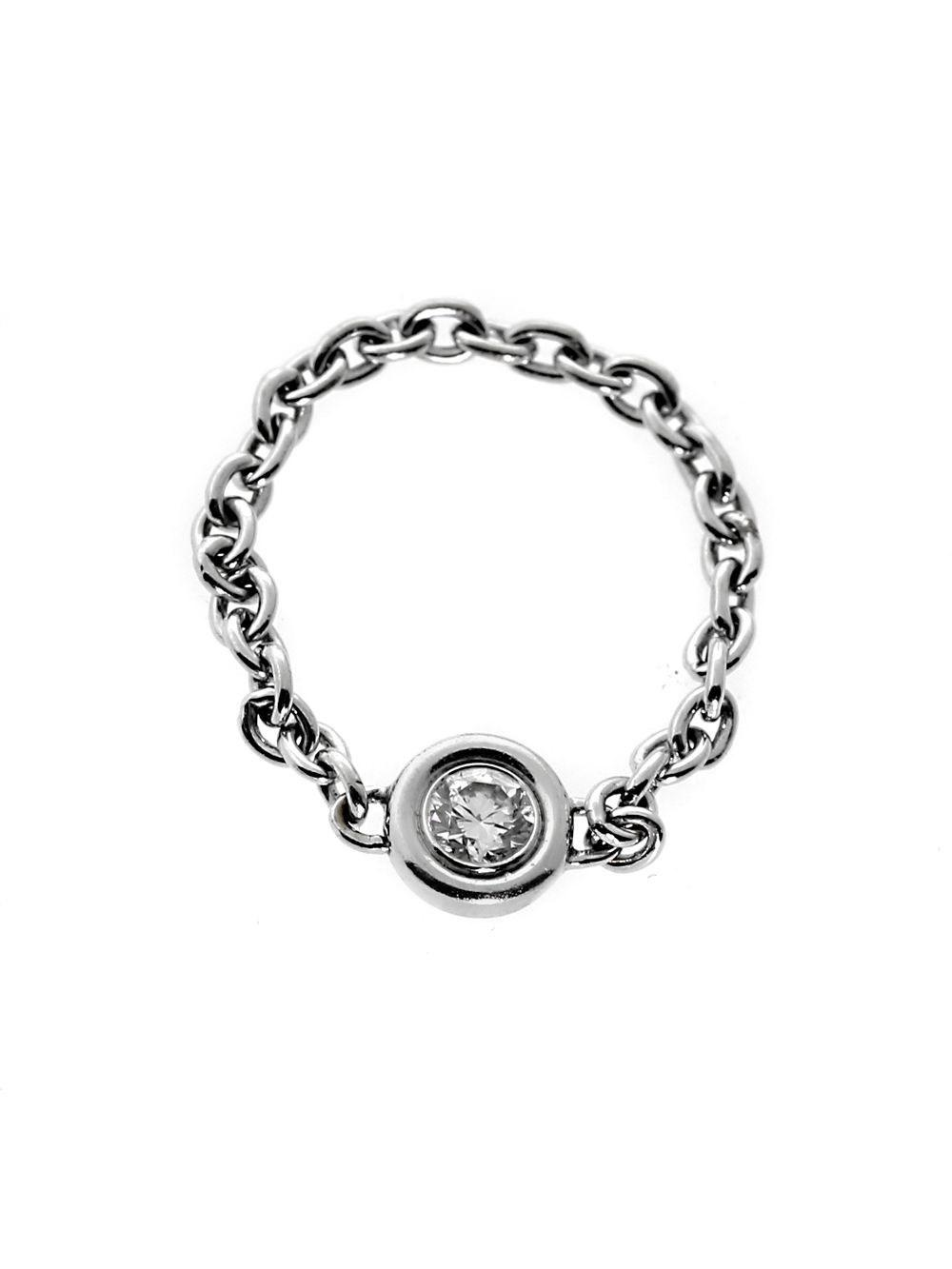 d0702c3084b Dior White Chain Link Diamond Gold Ring