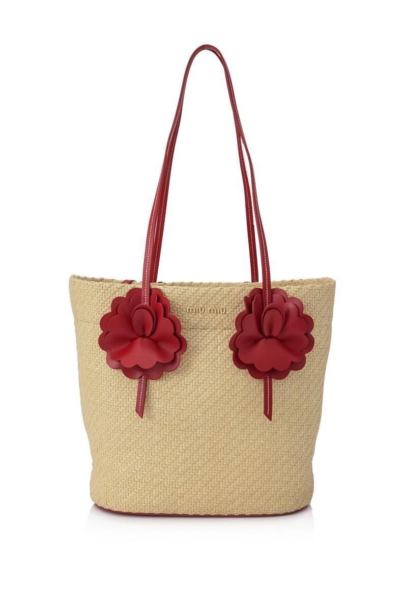 2ff543c08a1 Lyst - Miu Miu Paglia Shopping Tote in Natural