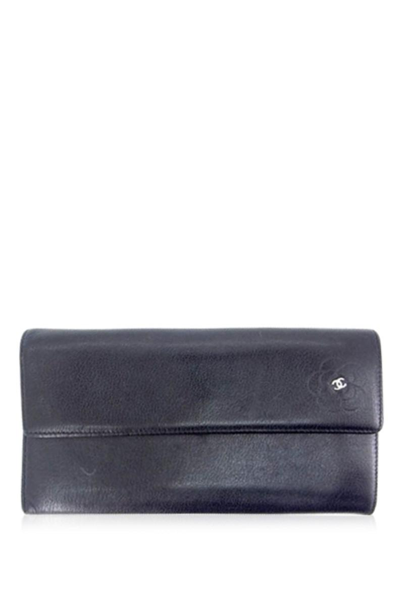 4c1e13d8c2bc Lyst - Chanel Wallet Purse Long Bill Compartment Coco Mark ...