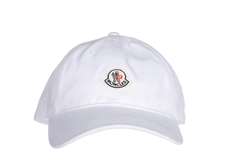 429010c97dc Moncler - Adjustable Men s Cotton Hat Baseball Cap 00209000209c001 White  for Men - Lyst. View fullscreen