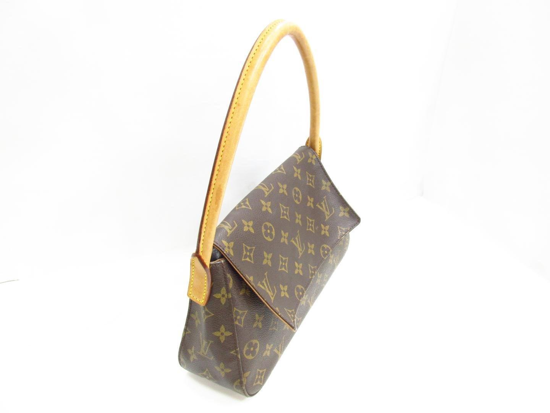 00d7cb7313e2b Louis Vuitton Mini Looping Shoulder Flap Bag Monogram Canvas Brown ...