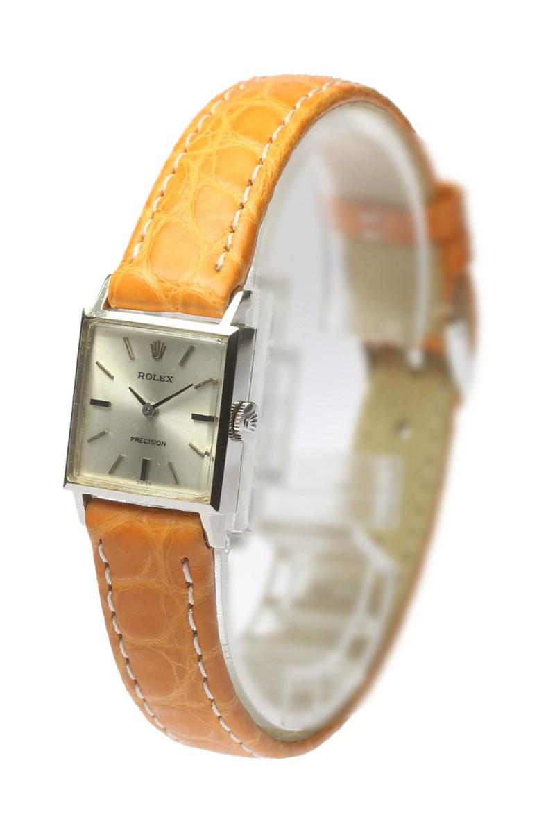 Lyst Rolex Precision Square Cal1400 Manual Leather Belt Ladies Squarer Gallery