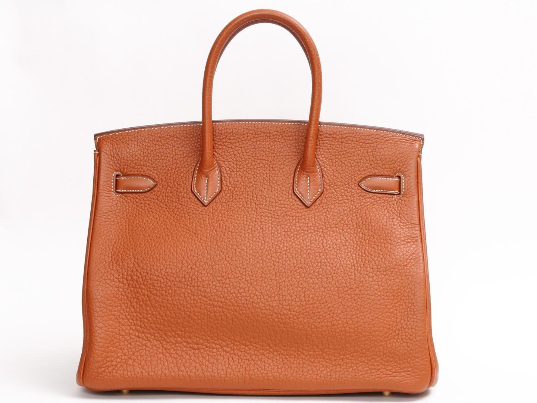 056ffb78f2 Lyst - Hermès Birkin 35 Handbag Togo Leather Gold Brown Ghw in Metallic