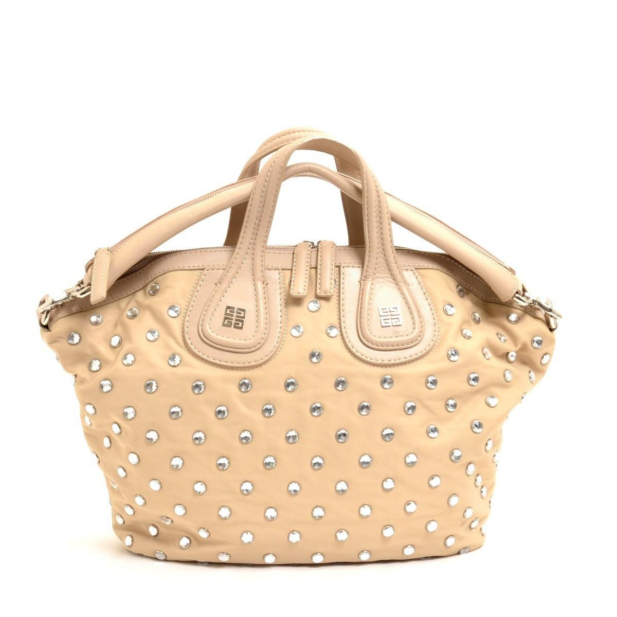 Lyst - Givenchy Leather Nightingale 2 Way Studs St Tote Bag in Natural 8ee205c4ee30a
