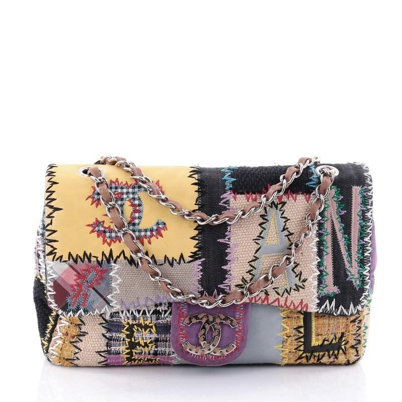 Classic Single Flap Bag Multicolor Patchwork Jumbo