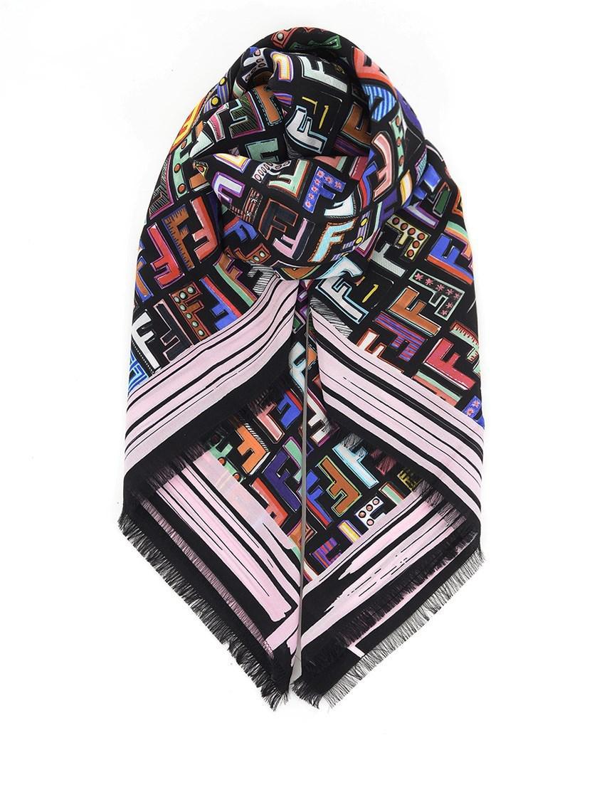 floral foulard square scarf - Multicolour Fendi d9zKizou