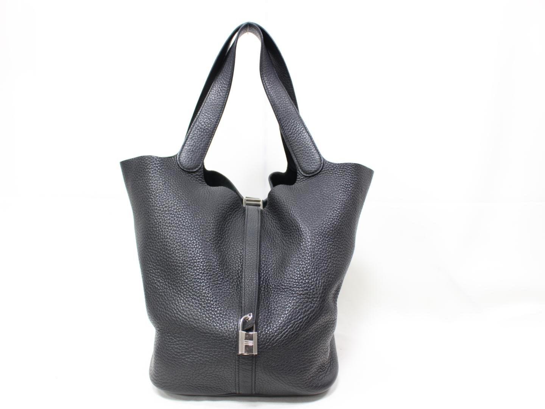 c807ad5b6bd8 Lyst - Hermès Picotin Lock Gm Tote Bag Handbag Clemence Leather ...