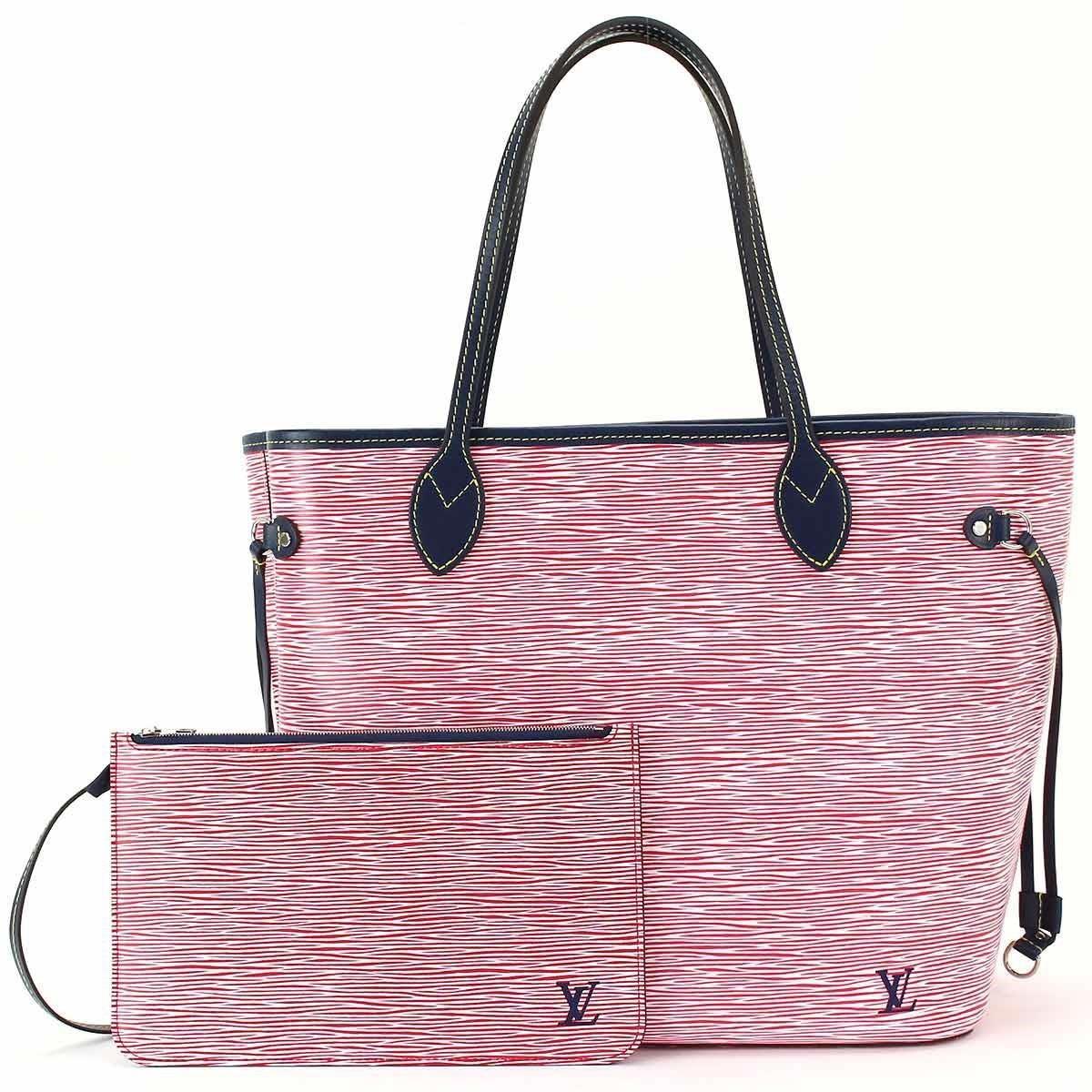 a993c024a Louis Vuitton Epi Denim Neverfull Mm Tote Bag Rouge M54546 90041096 ...