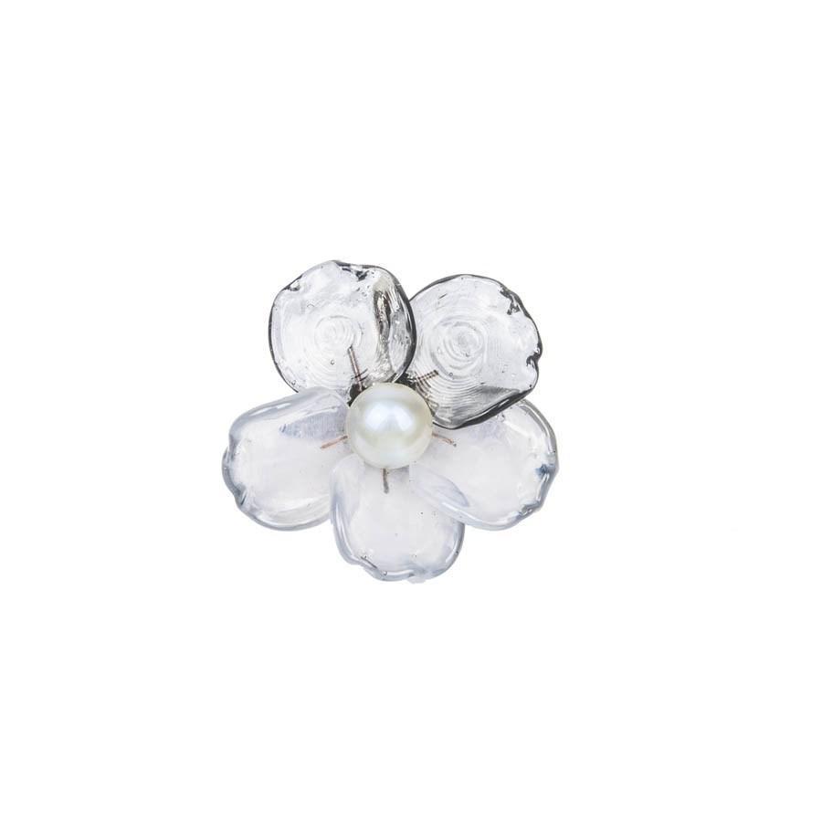 Lyst - Chanel Broche Bicolore Transparent Et Gris Clair   in Gray 6388685318d