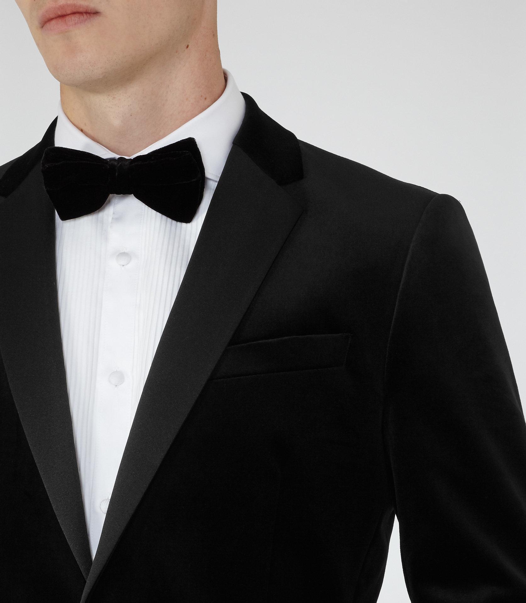 Reiss Velvet Maximus in Black for Men