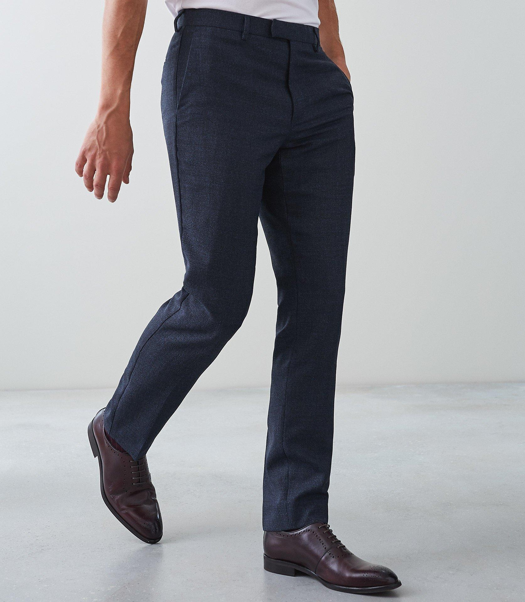 Reiss Wool Vapour - Slim Fit Trousers in Indigo (Blue) for Men