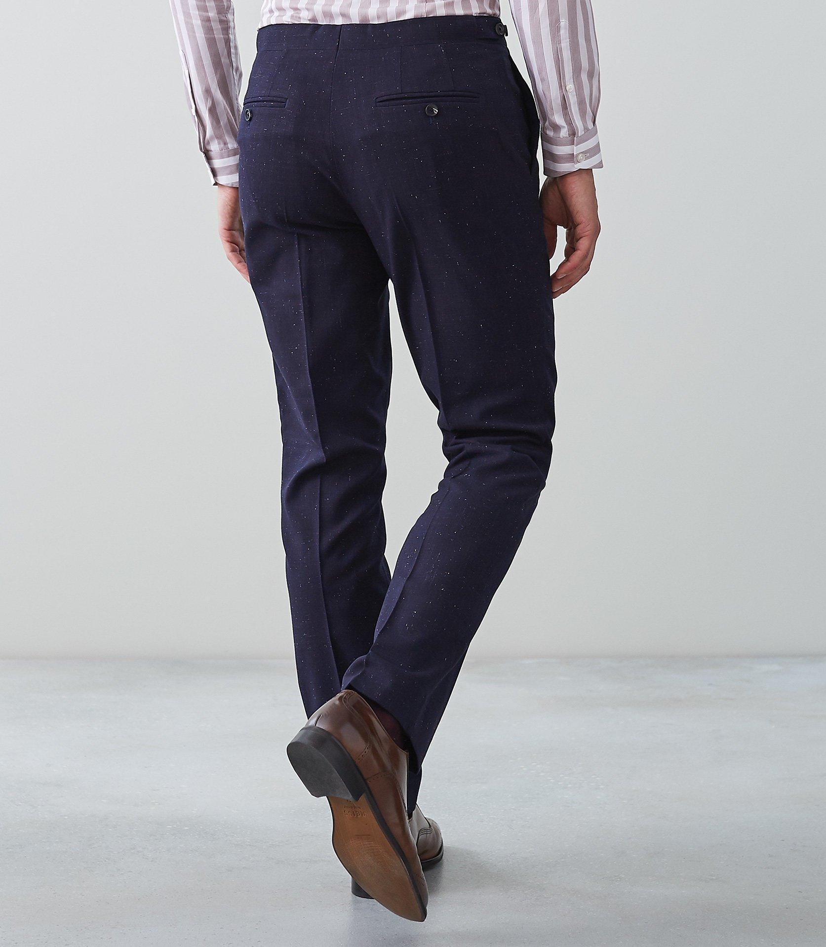 Reiss Synthetic Fountain - Slim Fit Trousers in Navy (Blue) for Men