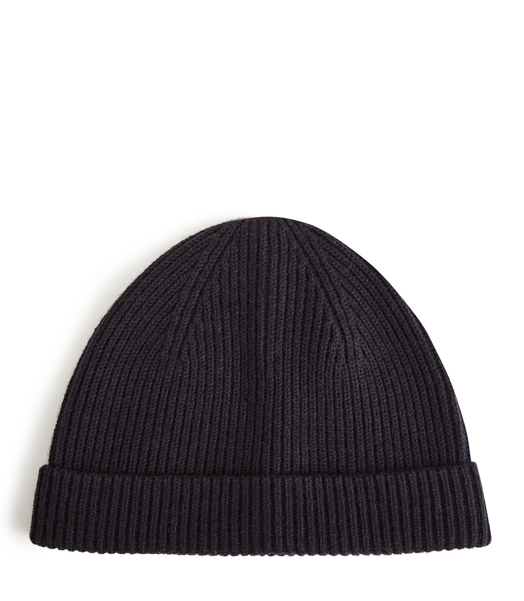 0b4b828be87ac9 Reiss Ribbed Beanie Hat in Blue for Men - Lyst