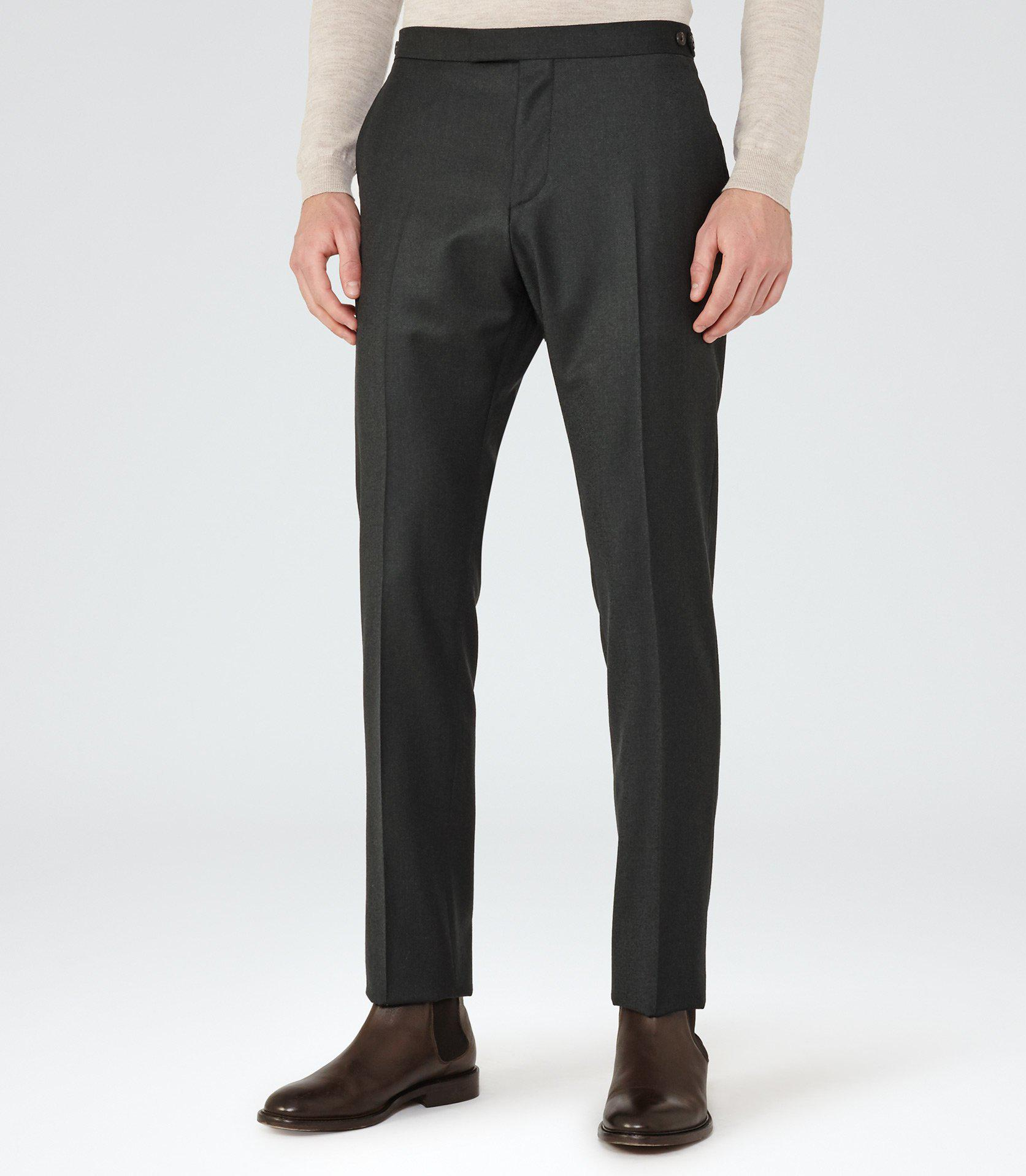 Reiss Cotton Murphy in Charcoal (Blue) for Men