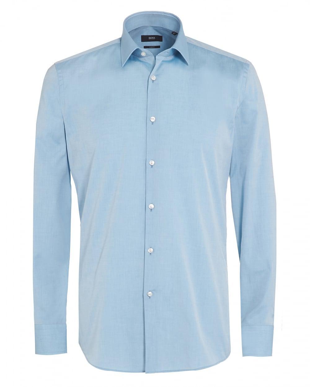 a54e9c5f BOSS Jenno Shirt, Aqua Blue Slim Fit Shirt in Blue for Men - Lyst