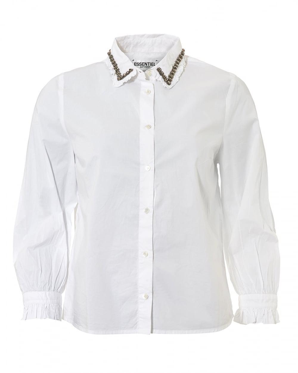 Lyst essentiel antwerp odakota5 jewelled collar pin tuck for White shirt with collar pin
