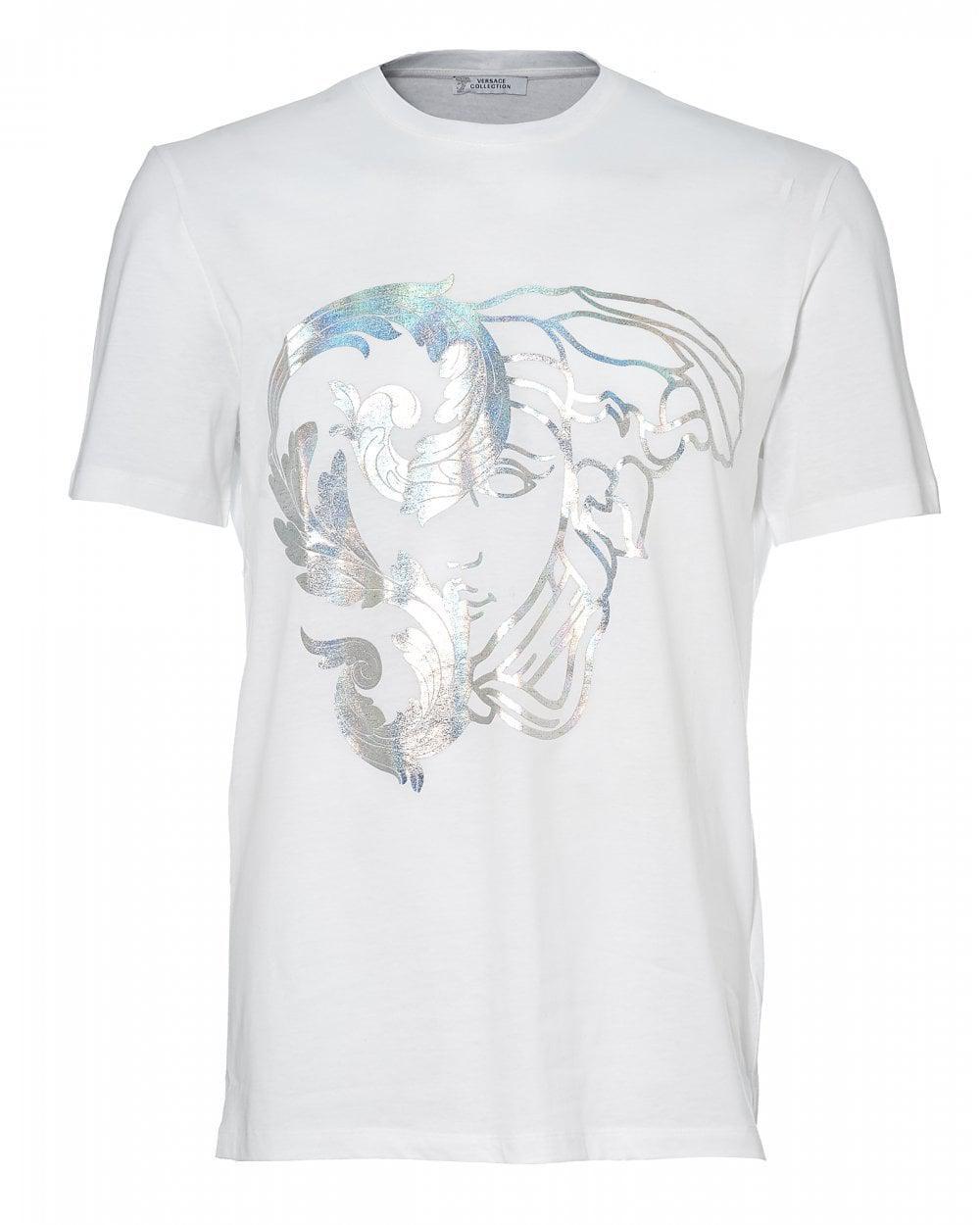 1ed5ff53b8a Versace. Men s Foil Half Medusa T-shirt ...