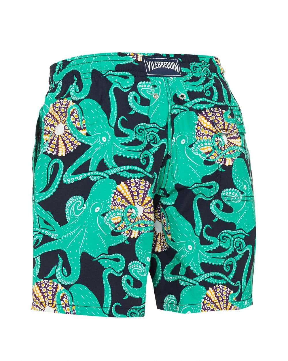 2a9f9ef6ae Vilebrequin Moorea Swimshorts, Navy Octopus Print Swimming Trunks in Blue  for Men - Save 30% - Lyst