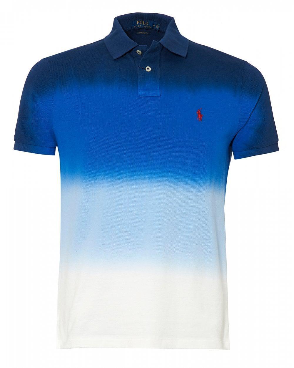 76468e14 Lyst - Ralph Lauren Graduated Dip Dye Polo Shirt, Blue White Polo in ...