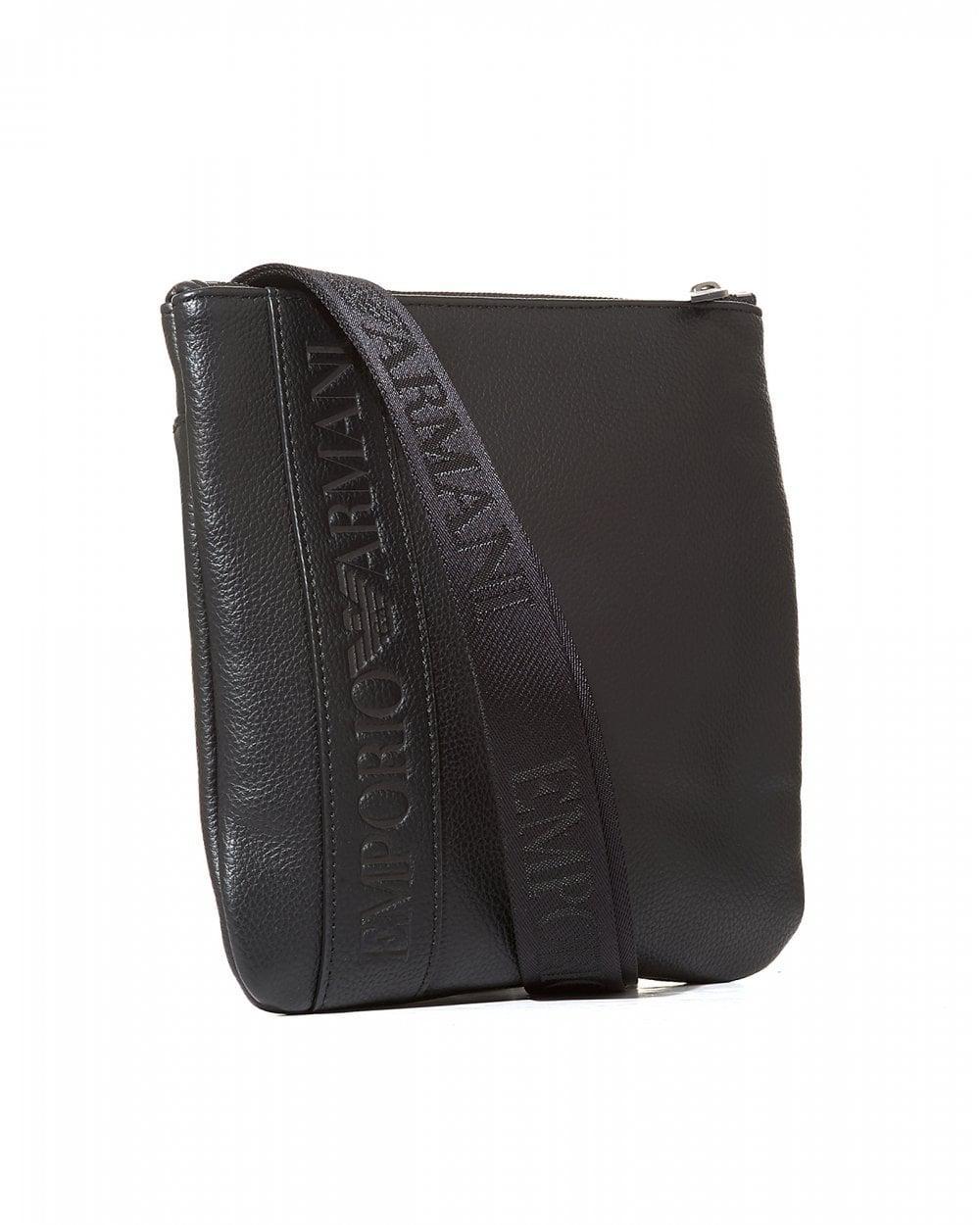Emporio Armani Silver Eagle Logo Black Cross Body Stash Bag in Black for Men  - Save 1% - Lyst 4491b0ead60b9