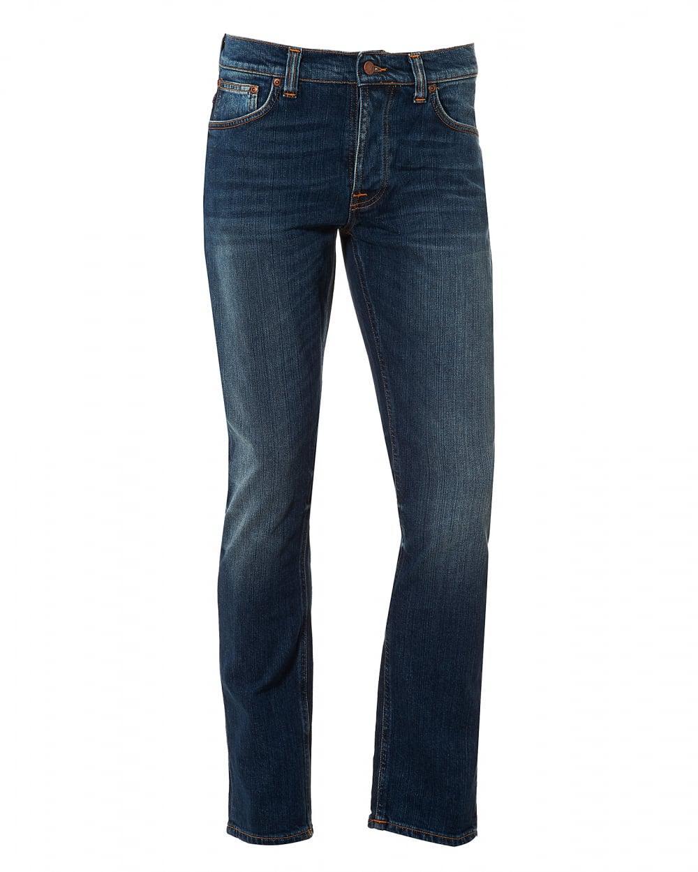 lyst nudie jeans grim tim jeans sublime worn wash denim. Black Bedroom Furniture Sets. Home Design Ideas