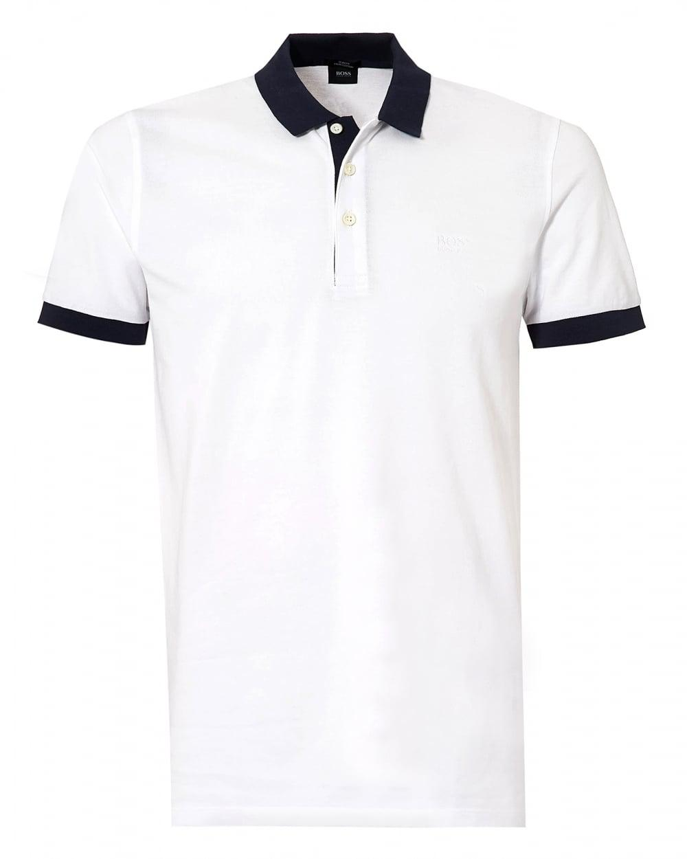 2a1e71269 BOSS Phillipson Polo Shirt, White Slim Fit Polo in White for Men - Lyst