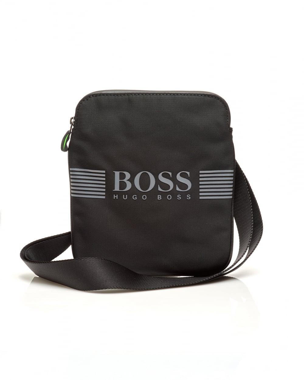 247492efb9 BOSS - Pixel_s Zip Env Nylon Stash Crossbody Black Bag for Men - Lyst. View  fullscreen