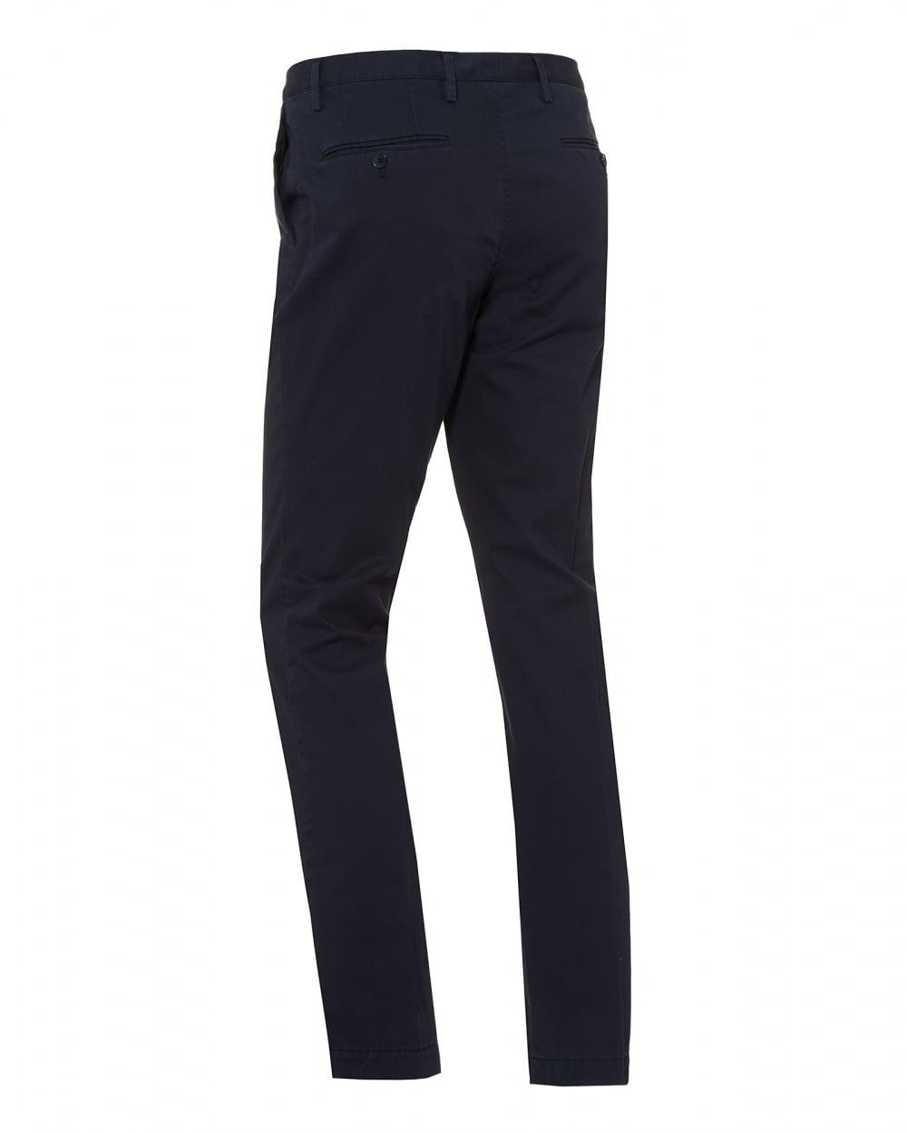 4585cfd62 BOSS Stanino Chino, Navy Blue Slim Fit Trouser in Blue for Men - Lyst