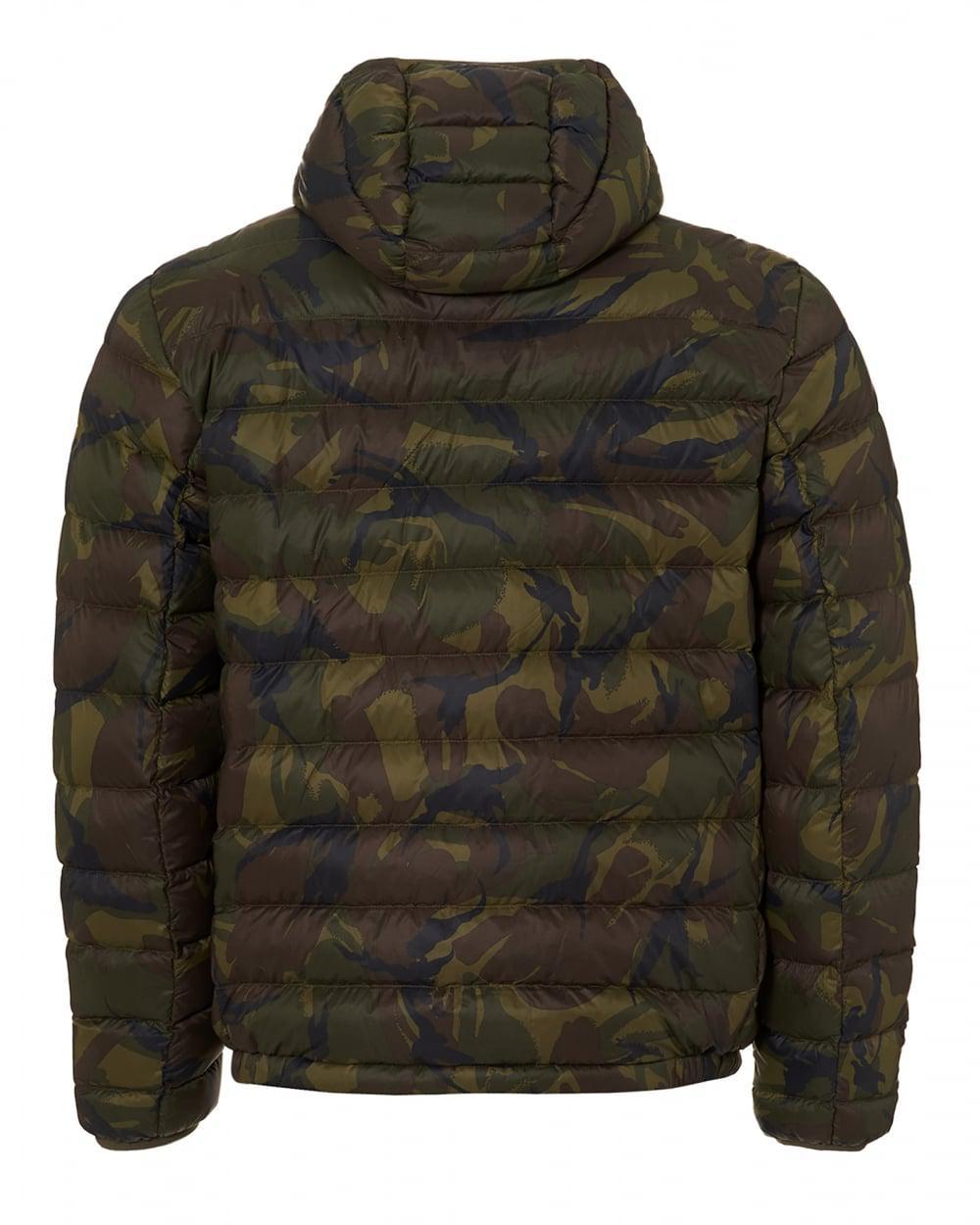 Ralph Lauren Leather Camo Light Quilt Puffer Camouflage