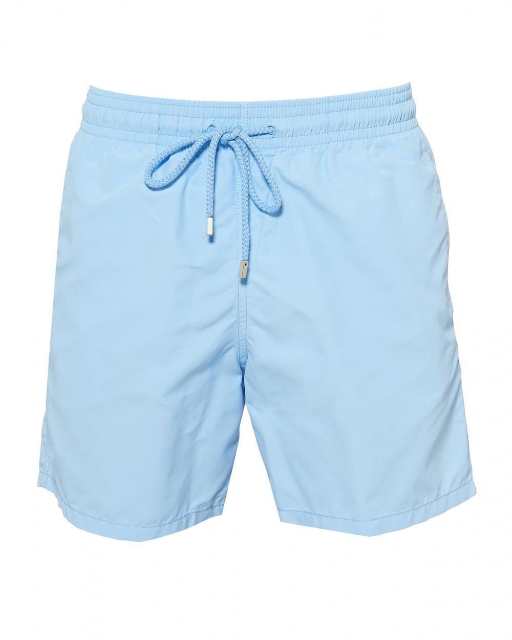8c47132bca Vilebrequin. Men's Moorea Plain Swimshorts, Sky Blue Swimming Trunks