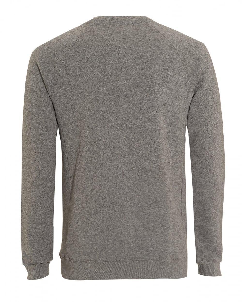 8e26375bb BOSS Wheel Sweat, Plain Patch Logo Grey Sweatshirt in Gray for Men - Lyst