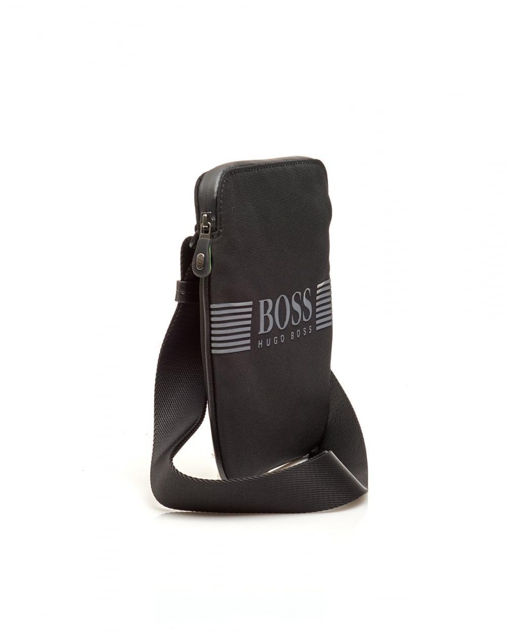 bd3ba47718 BOSS Pixel_s Zip Env Nylon Stash Crossbody Black Bag in Black for Men - Lyst