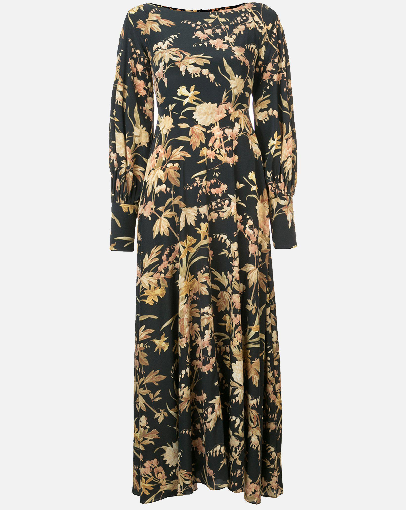 e05f35c1bbcd7 Women's Unbridled Basque Dress In Black Jonquil Floral