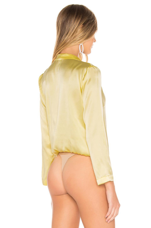 Amanda Uprichard - Yellow X Revolve Yvonne Bodysuit - Lyst. View fullscreen cef882171