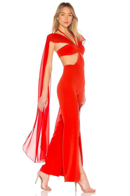6cf24e704e7 Michael Costello X Revolve Megan Jumpsuit in Red - Lyst