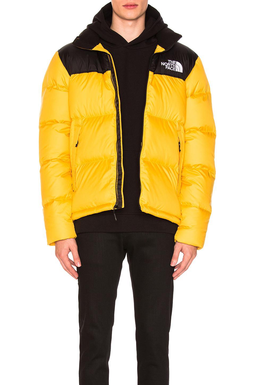 buy good skate shoes top brands Yellow & Black Down Novelty Nuptse Jacket