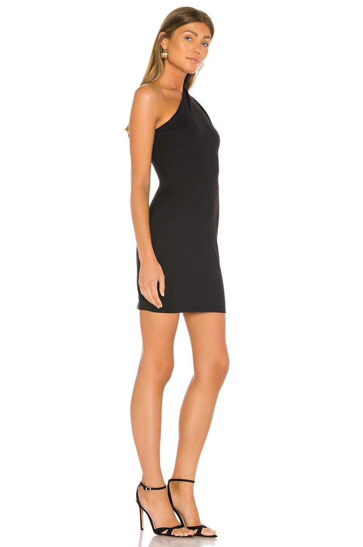 Vestido mini ceñido curved Susana Monaco de Tejido sintético de color Negro