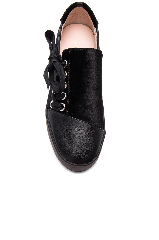 Avec Les Filles Velvet Vera Sneaker in Black