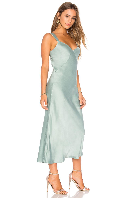 18f95a8639aa Capulet Ally Midi Slip Dress in Green - Lyst