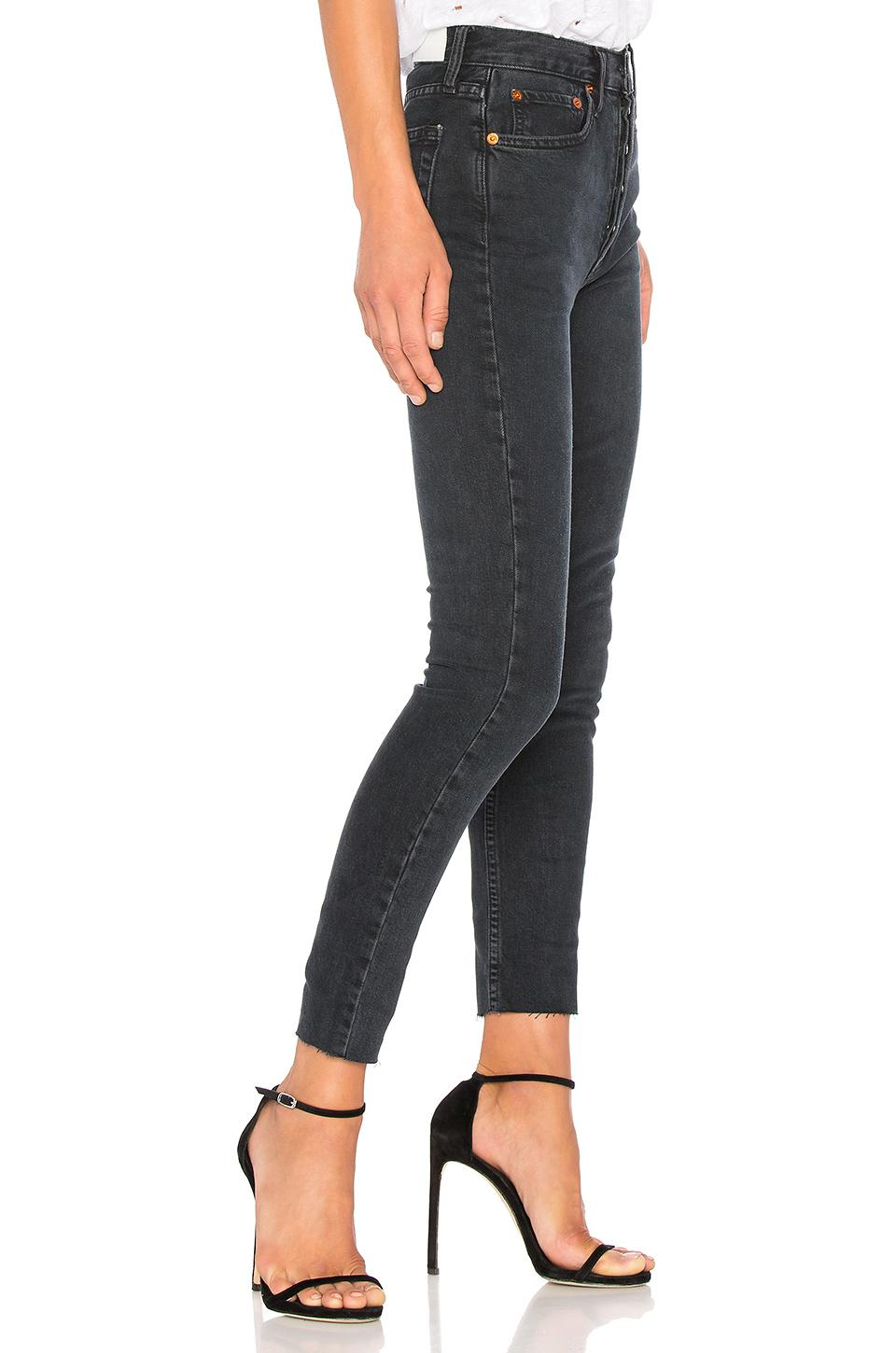 2e13986ebd93 Re done - Black Originals High Rise Ankle Crop With Stretch - Lyst. View  fullscreen
