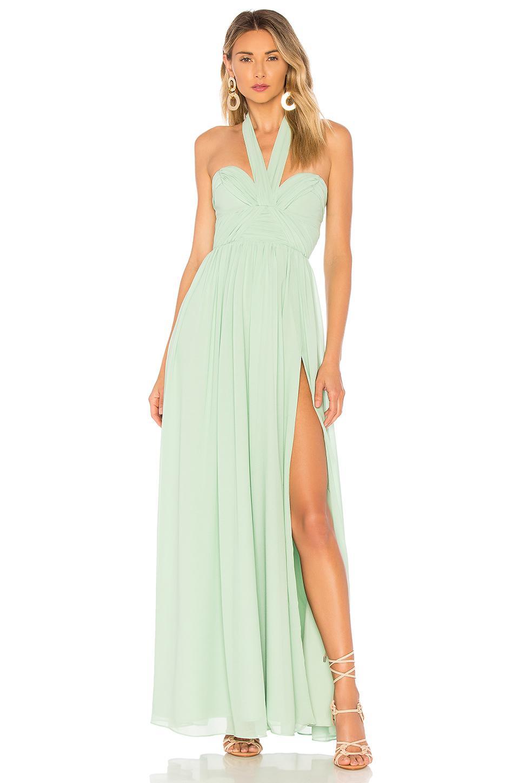 Lyst - Majorelle Viola Gown In Mint in Green