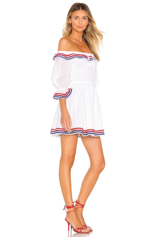 Vestido zina Lovers + Friends de Algodón de color Blanco