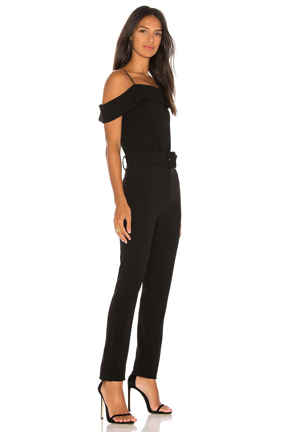 3905022c1582 Lyst - Theory Cold Shoulder Jumpsuit in Black